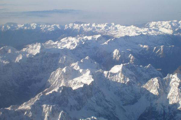Julian Alps from the air